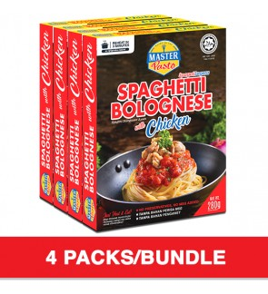 (4-Pack Bundle) 3-Minute Spaghetti Bolognese with Chicken (280g x 4)