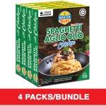 (4-Pack Bundle) 3-Minute Spaghetti Aglio Olio with Chicken (280g x 4)