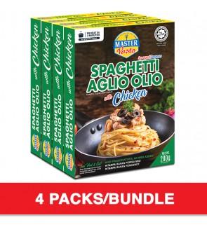 3 Minutes Instant Spaghetti- Aglio Olio With Chicken (280g x 4)