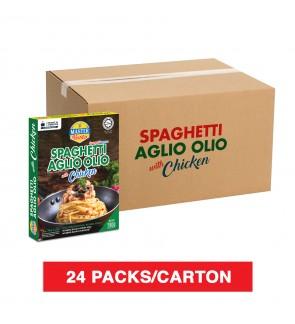 (1 Carton) 3 Minutes Spaghetti Aglio Olio With Chicken (280g x 24)