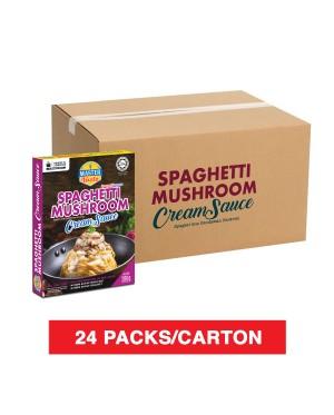 (1 Carton) 3-Minute Spaghetti Mushroom Cream Sauce Economy Pack (280g x 24)