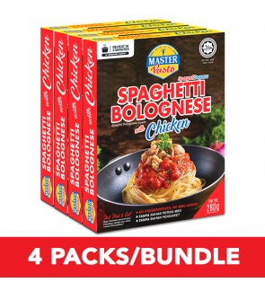 (4-Pack Bundle) 3-Minute Spaghetti Bolognese with Chicken (300g x 4)