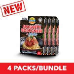 (4-Pack Bundle) 3-Minute Spaghetti Bolognese with Chicken Convenience Pack (290g x 4)
