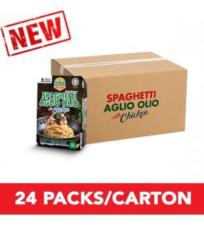 (1 Carton) 3-Minute Spaghetti Aglio Olio With Chicken Convenience Pack (290g x 24)