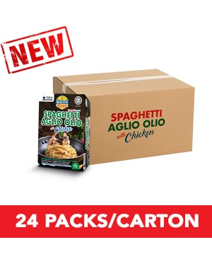 (1 Carton) 3-Minute Spaghetti Aglio Olio With Chicken Convenience Pack (290g x 24)