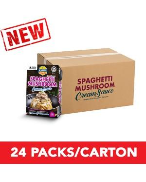 (1 Carton) 3-Minute Spaghetti Mushroom Cream Sauce Convenience Pack (290g x 24)