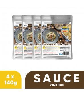 Mushroom Cream Sauce Value Pack (140g x 4)