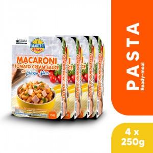 (4-Pack Bundle) Macaroni Tomato Cream Sauce with Chicken Slices (250g x 4)