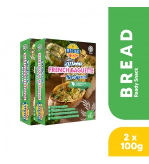 (2-pack Bundle) Roasted French Baguette with Herb Spread