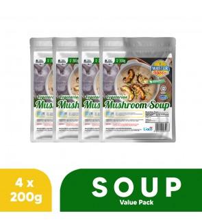 (4-Pack Bundle) VegetarianMushroom Soup(200g x 4)
