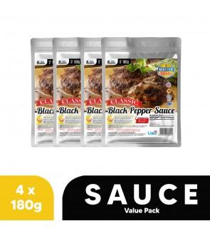 Classic Black Pepper SauceValue Pack (180g x 4)